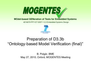 "Preparation of D3.3b  ""Ontology-based Model Verification (final)"""