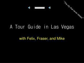 A Tour Guide in Las Vegas