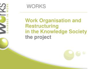 Work  O rganisation  and Restructuring in the K nowledge Society  the project