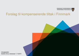 Forslag til kompenserende tiltak i Finnmark