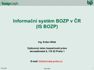 Informační systém BOZP v ČR (IS BOZP)