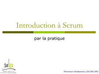 Introduction à Scrum