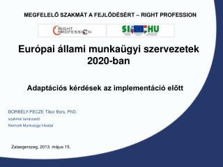 Európai állami munkaügyi szervezetek  2020-ban
