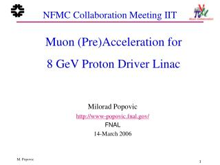 NFMC Collaboration Meeting IIT