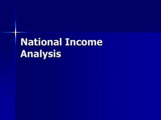 National Income Analysis