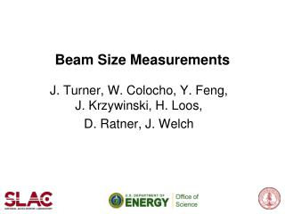 Beam Size Measurements