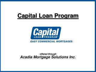 Capital Loan Program