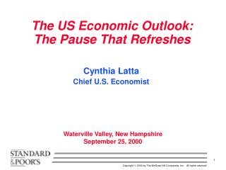 The US Economic Outlook: The Pause That Refreshes