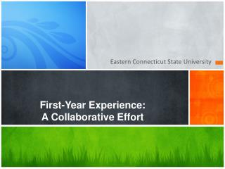 First-Year Experience: A Collaborative Effort