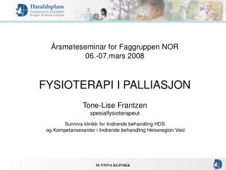 Årsmøteseminar for Faggruppen NOR 06.-07.mars 2008