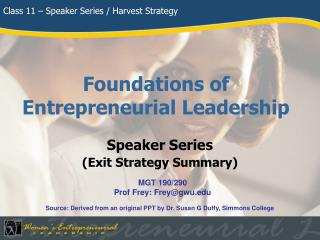 Foundations of Entrepreneurial Leadership