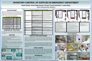 INVENTORY CONTROL OF SUPPLIES IN EMERGENCY DEPARTMENT