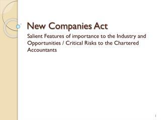 New Companies Act
