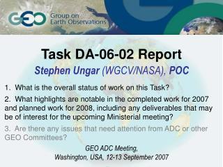 Task DA-06-02 Report