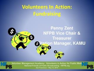 Volunteers In Action:  Fundraising