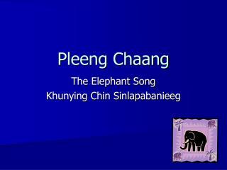 Pleeng Chaang