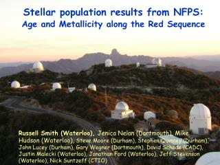 Stellar population results from NFPS: Age and Metallicity along the Red Sequence