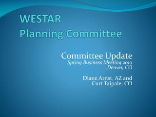 WESTAR Planning Committee