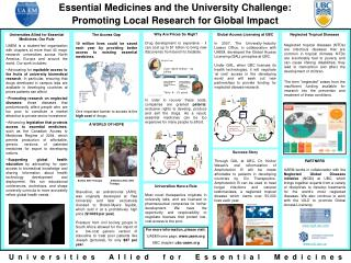 Essential Medicines and the University Challenge: Promoting Local Research for Global Impact