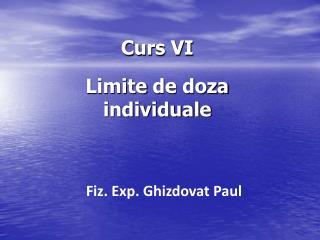 Curs VI