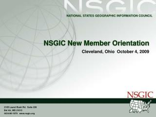 NSGIC New Member Orientation