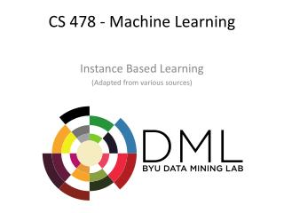 CS 478 - Machine Learning