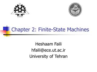 Chapter 2: Finite-State Machines