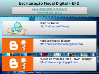 Escrituração Fiscal Digital – EFD