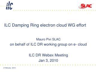 ILC Damping Ring electron cloud WG effort