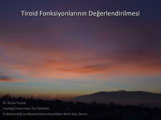 Tiroid  Fonksiyonlarının Değerlendirilmesi