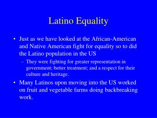 Latino Equality