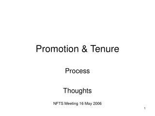 Promotion & Tenure
