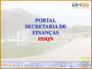 PORTAL SECRETARIA DE FINANÇAS ISSQN