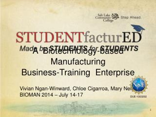 A  Biotechnology-based  Manufacturing Business-Training  Enterprise