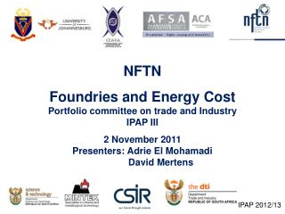 NFTN Foundries and Energy Cost Portfolio committee on trade and Industry IPAP III