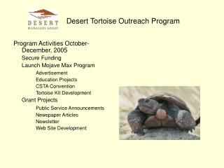 Desert Tortoise Outreach Program