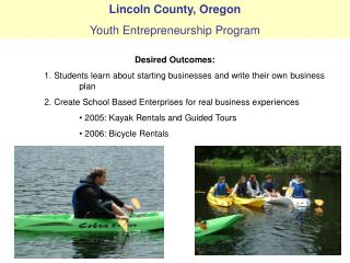 Lincoln County, Oregon Youth Entrepreneurship Program