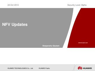 NFV Updates