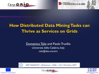 How Distributed Data Mining Tasks can Thrive as Services on Grids
