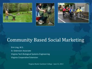 Community Based Social Marketing