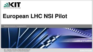 European LHC NSI Pilot