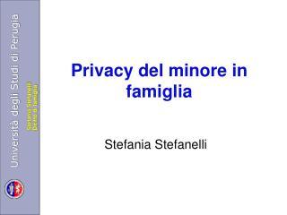 Privacy del minore in famiglia