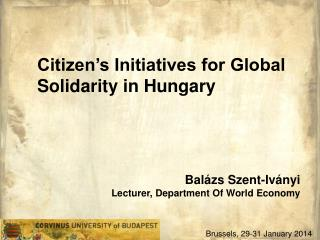 Citizen's Initiatives for Global Solidarity in Hungary
