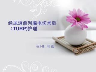 经尿道前列腺电切术后( TURP) 护理 侨 1-8    周 薇