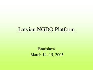 Latvian NGDO Platform