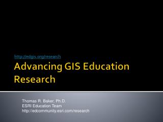 Advancing GIS Education Research