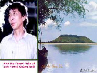 Nhà thơ Thanh Thảo và quê hương Quảng Ngãi