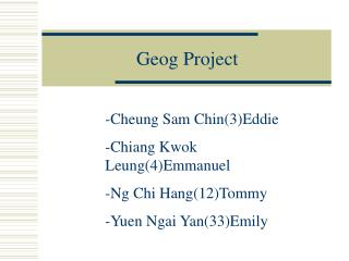 Geog Project