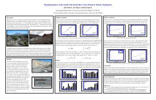 Morphodynamics of the North Fork Toutle River Near Mount St. Helens, Washington