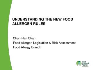 Understanding the new food allergen rules